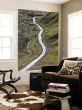 Dirt Road and Moss Covered Mountains, Landmannalaugar, Southern Highlands, Iceland Wall Mural by Peter Adams