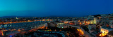 High Angle View of a Port at Dusk, Marseille, Bouches-Du-Rhone, France Photographic Print