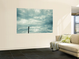 Black and White Telegraph Pole and Wires Wall Mural by Jon Arnold