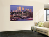 England, London, Docklands, Canary Wharf Skyline Wall Mural by Steve Vidler