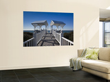 USA, Florida, Florida Panhandle, Seaside, Beach Pavillion Wall Mural by Walter Bibikow