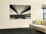 USA, Louisiana, New Orleans, Greater New Orleans Bridge and Mississippi River Wall Mural by Walter Bibikow