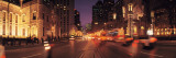 Traffic on the Road at Dusk, Michigan Avenue, Chicago, Cook County, Illinois, USA Photographic Print
