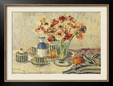 Still Life with Anemones Framed Giclee Print by Paul Mathieu