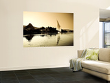 Egypt, Aswan, Felucca and Nile River Wall Mural by Michele Falzone