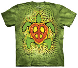 Rasta Peace Turtle Shirt