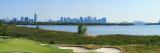 Liberty National Golf Club with Lower Manhattan and Statue of Liberty in the Background Fotografie-Druck