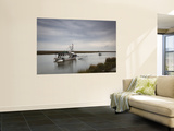 USA, Louisiana, Dulac, Bayou Fishing Boat by Lake Boudreaux Wall Mural by Walter Bibikow