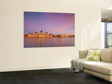 Hungarian Parliament Building and River Danube, Budapest, Hungary Wall Mural by Doug Pearson