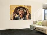 Vietnam, Hoi An, Portrait of Elderly Fisherman Wall Mural by Steve Vidler