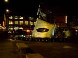 Statue of Adam Clayton Powell Jr at Night, Harlem, Manhattan, New York City, New York State, USA Photographic Print