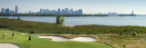 Liberty National Golf Club with Lower Manhattan And Statue of Liberty in the Background Photographic Print