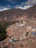 High Angle View of a Cemetery at the Hillside, Maimara, Quebrada De Humahuaca, Argentina Photographic Print