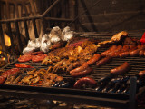 Sausages on a Grill, Mercado Del Puerto, Montevideo, Uruguay Photographic Print