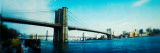 Bridge Across a River, Brooklyn Bridge, East River, Brooklyn, New York City, New York State, USA Photographic Print