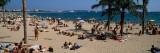 Tourists on the Beach, Plage De La Croisette, Cannes, Alpes-Maritimes Photographic Print
