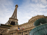 Low Angle View of a Hotel, Paris Las Vegas, the Strip, Las Vegas, Nevada, USA Photographic Print