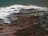 Rock Formations on the Coast, La Paloma, Rocha Department, Uruguay Photographic Print