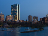 Buildings at the Waterfront, John Hancock Tower, Back Bay, Charles River, Boston, Massachusetts Photographic Print