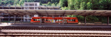 Commuter Train at a Railroad Station, Horb Am Neckar, Baden-Wurttemberg, Germany Photographic Print