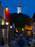 Lighthouse Lit Up at Dusk, Colonia Del Sacramento, Uruguay Photographic Print