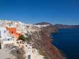 High Angle View of a Town on an Island, Oia, Santorini, Cyclades Islands, Greece Photographic Print
