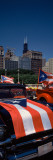 Vintage Cars in the Puerto Rican Parade, Columbus Drive, Chicago, Illinois, USA Photographic Print