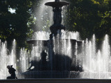 Fountain in a Park, General San Martin Park, Mendoza, Argentina Photographic Print