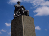 Statue of Jomo Kenyatta Against Cloudy Sky, Nairobi, Kenya Photographic Print
