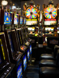 Slot Machines at an Airport, Mccarran International Airport, Las Vegas, Nevada, USA Photographic Print