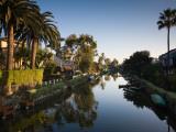 Homes Along a Canal, Venice, Los Angeles, California, USA Photographic Print