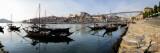 Boats in a River, Dom Luis I Bridge, Duoro River, Porto, Portugal Fotografisk trykk
