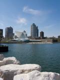 Museum at the Waterfront, Milwaukee Art Museum, Lake Michigan, Milwaukee, Wisconsin, USA Photographic Print