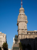 Buildings in a City, Salvo Palace, Plaza Independencia, Montevideo, Uruguay Photographic Print