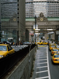 Yellow Taxis on Road Viewed From Park Avenue Tunnel, Grand Central Terminal, Manhattan, New York Photographic Print