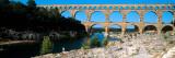 Aqueduct Across a River, Pont Du Gard, Nimes, Gard, Languedoc-Rousillon, France Photographic Print