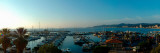 High Angle View of a Port at Dusk, Le Lavandou, Var, Provence-Alpes-Cote D'Azur, France Photographic Print