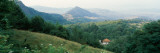 Buildings in a Valley, Transylvania, Romania Photographic Print