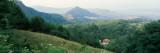 Buildings in a Valley, Transylvania, Romania Photographic Print