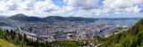 High Angle View of a City, Bergen, Hordaland County, Norway Photographic Print
