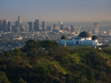 Observatory on a Hill Near Downtown, Griffith Park Observatory, Los Angeles, California, USA Fotografiskt tryck