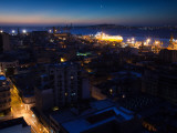 Buildings Lit Up at Dusk, Montevideo, Uruguay Photographic Print