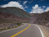 Road Leading Towards Salinas Grandes, Rn 52, Purmamarca, Quebrada De Humahuaca, Argentina Photographic Print