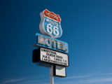 Low Angle View of a Motel Sign, Route 66, Seligman, Yavapai County, Arizona, USA Photographic Print