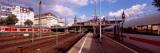 Train at a Railroad Station, Central Station, Hamburg, Germany Photographic Print