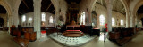 360 Degree View of a Church Interior, St. Martin's Church, Veules-Les-Roses, Seine-Maritime Photographic Print