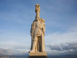 Low Angle View of a Statue, Cabrillo National Monument, Point Loma, San Diego, California, USA Photographic Print