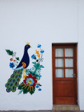 Mural on the Wall of a Chocolate Shop, San Martin De Los Andes, Lake District, Argentina Photographic Print