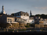 Buildings on a Hill, Old Harbor, Rockport, Cape Ann, Massachusetts, USA Photographic Print