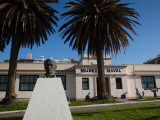 Statue in Front of a Museum, Naval Museum, Pocitos, Montevideo, Uruguay Photographic Print